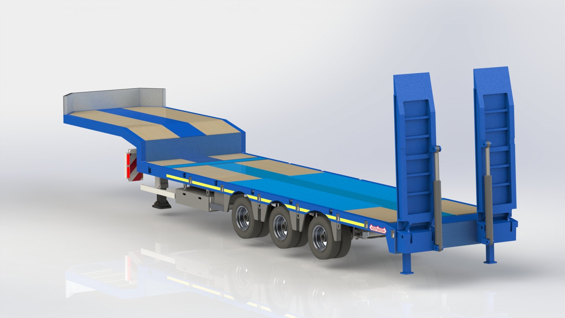 Nooteboom 3 axle trailer