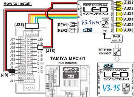ob1 v31mfc bleutooth tamiya led system